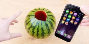 Sülfürik asidin karpuza ve iPhone'a etkisi