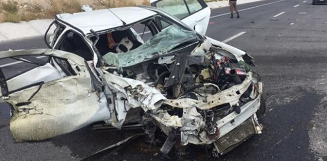 10 yılda 1 buçuk milyon trafik kazası meydana geldi