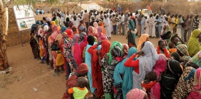 Sudan'daki sığınmacılara 594 ton gıda yardımı yapıldı