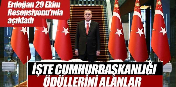 Cumhurbaşkanı Erdoğan ödülleri açıkladı