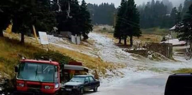 Uludağ'a mevsiminin ilk karı yağdı