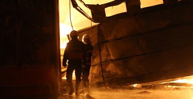 Adana'da bir narenciye fabrikasında  Yangın