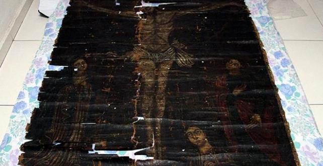 Kayseri'de, 13. yüzyıla ait olduğu değerlendirilen tablo elde geçirildi