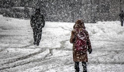 Erzurum'da etkili olan kar yağışı nedeniyle Karayazı ilçesinde okullar bir gün tatil edildi