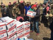 Son bir yıl içersinde Afrin'de 362 noktaya insani yardım malzemesi ulaştırıldı