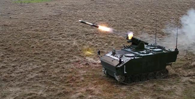 """Milli füze OMTAS, tank avcısı """"Kaplan"""" zırhlısı ile ilk testini yaptı"""
