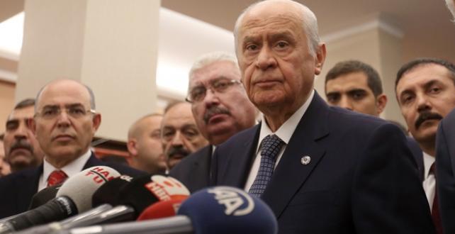 """MHP Genel Başkanı Bahçeli, """"Mazbatayı stadyuma taşımak, taraflar arasındaki rekabeti siyasi düşmanlığa dönüştürmek için ekilen bir tohumdur"""