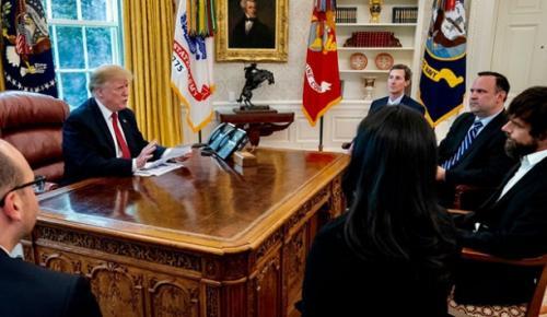 ABD Başkanı Donald Trump, Twitter'ın CEO'su Jack Dorsey ile Beyaz Saray'da bir görüşme gerçekleştirdi