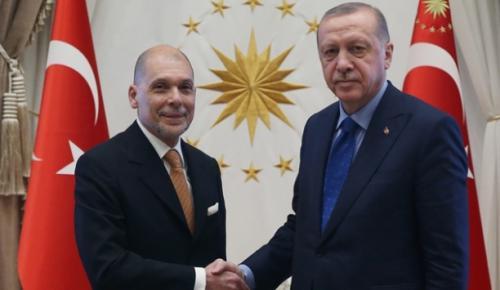 Cumhurbaşkanı Erdoğan, Arjantin'in Ankara Büyükelçisi Jorge A. Mastropietro'yu kabul etti