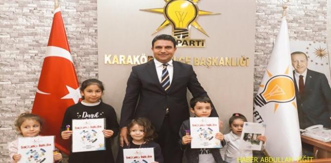 Ak Parti Karaköprü İlçe Başkanı Ağan `ın  Koltuğu Çocuklara Emanet