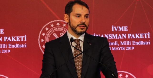 Hazine ve Maliye Bakanı Berat Albayrak,İVME Finansman Paketi kapsamında finansman sağlanacağını söyledi