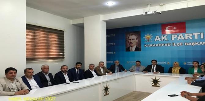 Ak Parti Karaköprü İlçe Başkanı Ağan İlk Yönetim Kurulu Toplantısını Yaptı