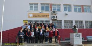 Sadettin Karaata, Birecik `te Ali Karaata `nın Yaptırmış Olduğu Okulları Ziyaret Etti