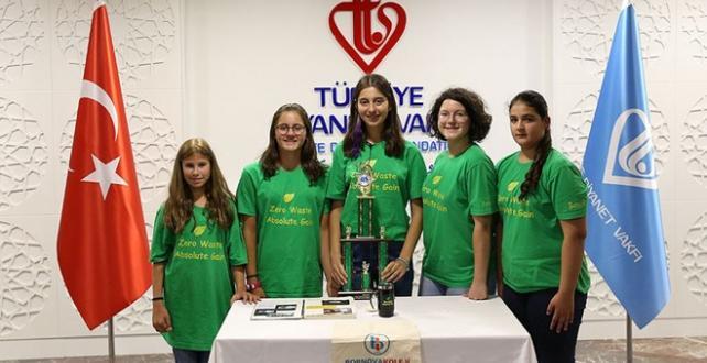 """Türk öğrenciler ABD'deki """"Geleceğin Problemlerini Çözme Becerileri"""" konulu yarışmada, """"Sıfır Atık Kesin Kazanç"""" projesiyle üçüncülük ödülüne layık"""