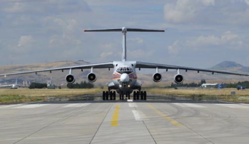 S-400 sevkiyatı devam ediyor. Bu kapsamda yedinci uçak da Mürted Hava Üssü'ne indi