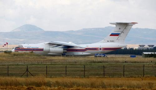 S-400 hava savunma sistemini taşıyan 9. uçak Mürted Hava Üssü'ne indi