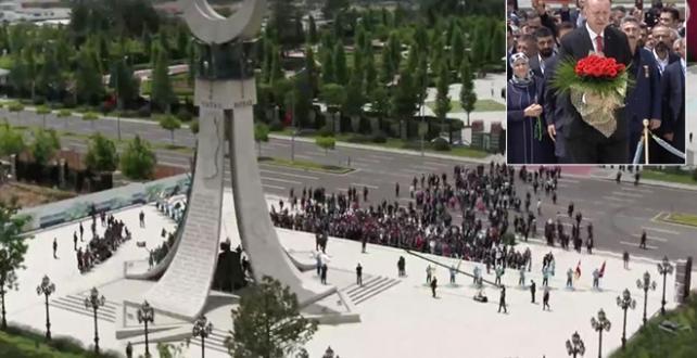 """Erdoğan, """"15 Temmuz Demokrasi ve Milli Birlik Günü"""" etkinlikleri kapsamında Beştepe'de düzenlenen anma törenine katılıyor"""