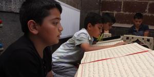 Ağrı'da 22 bin çocuk katılım göstererek camileri şenlendirdi