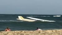 ABD'nin Maryland eyaletinde küçük bir uçak arıza nedeniyle okyanus kıyısına acil iniş yaptı