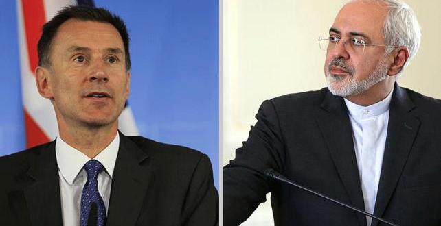 İngiltere Dışişleri Bakanı Hunt ve İranlı mevkidaşı Zarif, iki ülke arasında krize neden olan petrol tankerlerinin alıkonulmasını görüştü