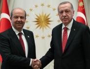 Cumhurbaşkanı Erdoğan, çalışma ziyareti için Ankara'da bulunan Kuzey Kıbrıs Türk Cumhuriyeti Başbakanı Tatar'ı kabul etti