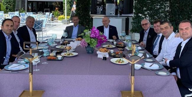 TTFF Başkanı Nihat Özdemir, UEFA Başkanı Aleksander Ceferin ile yemekte bir araya geldi