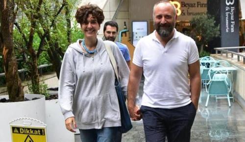 Halit Ergenç ile eşi Bergüzar Korel,Kanyon AVM'de objektiflere takıldı