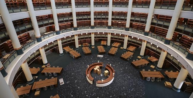 Erdoğan, Cumhurbaşkanlığı Külliyesi'nde yapımı tamamlanan kütüphanenin 29 Ekim'de hizmete açılacağını belirtti