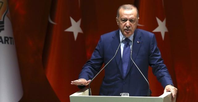 """Cumhurbaşkanı Erdoğan, """"İdlib'de yaşanan sorunları tek başımıza yüklenmeyeceğimizi Avrupa ve dünyaya açıkça ilan ettik. Oldu oldu"""