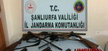Şanlıurfa'da silah kaçakçılarına operasyon