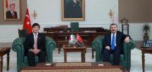 Sağlık Bakanı Koca, Japonya'nın Ankara Büyükelçisi  Miyajima bir araya geldi