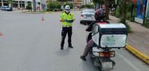 denetimlerde kask kullanmayan 1148 motosiklet sürücüsüne ceza