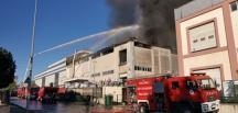 Kocaeli'de  bir fabrikada  yangın