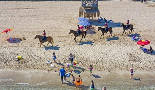 İzmir'de sahillerde, atlı birlikler denetim yapmaya başladı