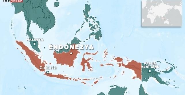 Endonezya'da  6,1 büyüklüğünde deprem oldu