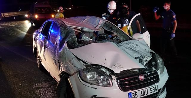 trafik kazasında bir kişi Öldü