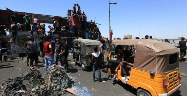 Irak'ın başkenti Bağdat'ta ateş sonucu 2 kişi öldürüldü