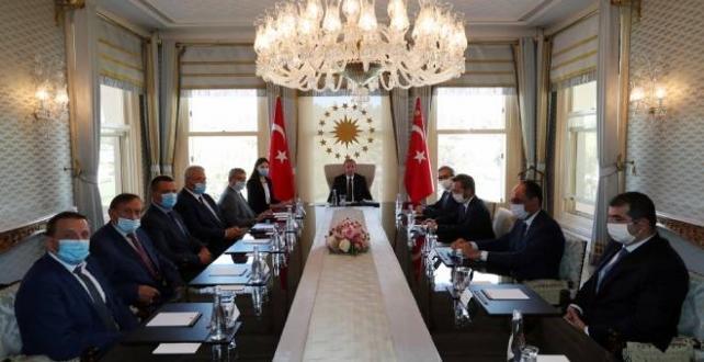 Cumhurbaşkanı Erdoğan, Ukrayna Başbakan Yardımcısı Uruskiy'i kabul etti