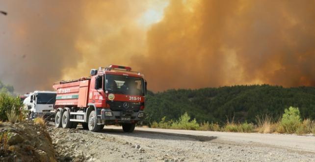 Hatay'da çıkan orman yangınında soğutma çalışmaları sürüyor