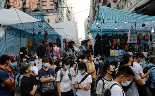 Hong Kong'da Yasama Konseyi seçimlerinin ertelenmesi protesto edildi