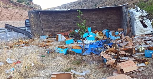 Malatya'da kamyon devrildi, 3 ölü