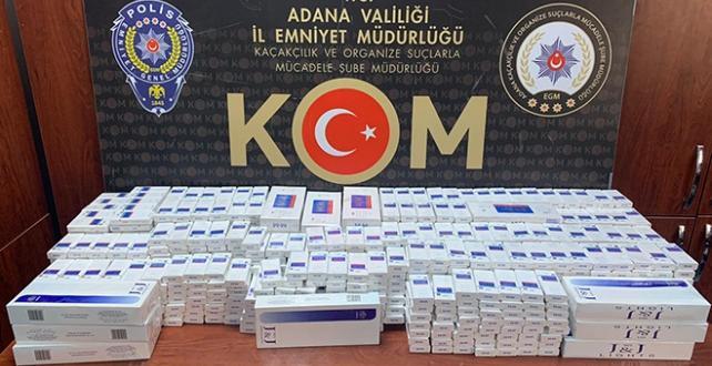 Adana'da 1330 paket kaçak sigara ele geçirildi