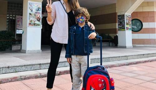 Aslı Tandoğan ve Oğlu Atlas'ın Okul Heyecanı
