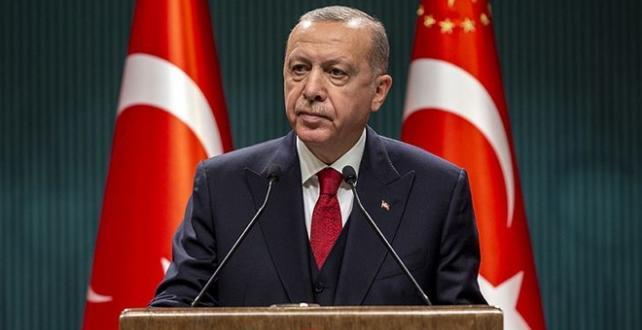 Cumhurbaşkanı Erdoğan'dan Trump'a geçmiş olsun mesajı