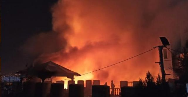 Ankara'da Estergon Kalesi'nde yangın