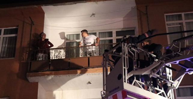 Düzce'de bir binada yangın: 4 kişi kurtarıldı