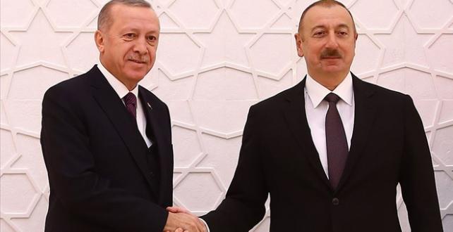 Cumhurbaşkanı Erdoğan Azerbaycan Cumhurbaşkanı Aliyev ile görüştü