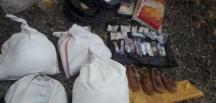 Bitlis'te teröristlerin araziye gizlediği malzemeler ele geçirildi