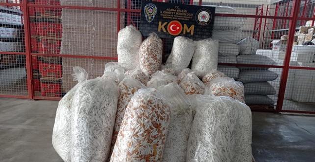 Adana'da 1 milyon kaçak makaron ele geçirildi