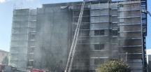 İstanbul Tıp Fakültesi'ndeki inşaatta yangın çıktı